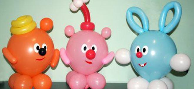 Самые легкие фигуры из шаров своими руками