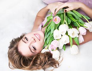 Круглосуточная доставка цветов!Голландские тюльпаны от компании Art Flowers со скидкой до 50%!