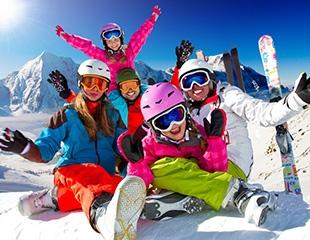 Празднуйте зиму на горнолыжном склоне Тау Туран! Лыжные трассы, катание на баллонах и аренда теплых палаток со скидкой до 50%!