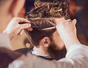 Лучшее для мужчины! Мужские и детские стрижки, моделирование бороды и фирменное бритье со скидкой до 52%от Barbershop City Barber!