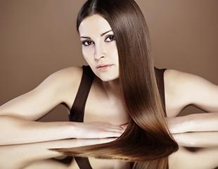 Прямые волосы надолго! Фруктовое кератиновое выпрямление на 1 год, а также выпрямление Brazil и Global Keratin от мастера Музафара в салоне красоты Z-VIVA со скидкой до 76%!