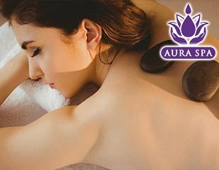 Массаж горячими камнями, гуаша, лимфодренажный, лифтинг, моделирующий или абдоминальная пластика живота, а также массаж различных зон в Aura Spa! Скидка до 59%