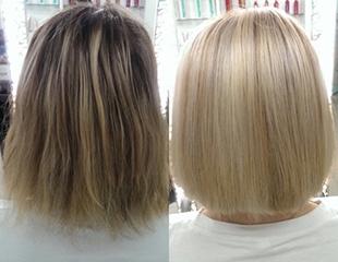 Новомодные окрашивания в студии красоты Oscar! Сомбре, тигровый глаз, балаяж, стрижки и другие hair-услуги со скидкой до 76%!