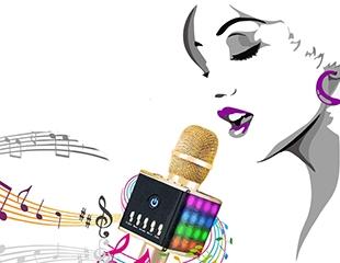 Пой, где хочешь! Караоке-микрофон со скидкой 50% + штатив в ПОДАРОК от интернет-магазина Mivoice.kz!