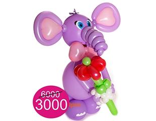 Яркие фигуры из шаров со скидкой до 50% от компании Мегашар!
