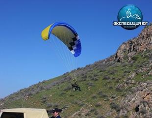 Небо в подарок! Полеты на параплане с 400 метров на профессиональном оборудовании от компании Экспедиция Юг со скидкой до 44%!