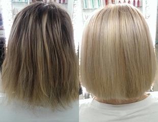 Новомодные окрашивания в студии красоты Oscar! Мелирование, омбре, стрижки и другие hair-услуги со скидкой до 77%!