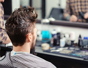 Мужские стрижки и укладки, моделирование бороды от мастера Фазли со скидкой до 50%!