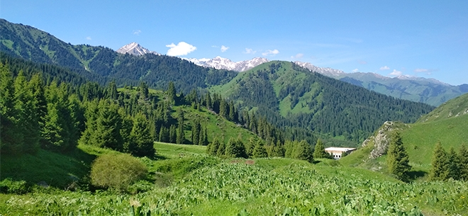 I love Almaty mountains, 2