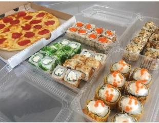 Обновленное меню от компании «Вкусная пицца»! Суши, пицца, бургеры и многое другое со скидкой до 50%! Доставка прямо до двери!