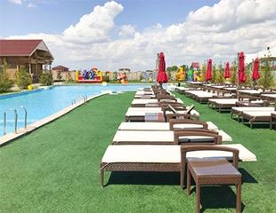 Отдых для всей семьи! Посещение бассейна на открытом воздухе в будни и выходные в зоне отдыха Astana Resort со скидкой 50%!