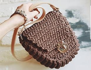 Видеоуроки по изготовлению вязанных сумок от Zaraschool со скидкой 80%!