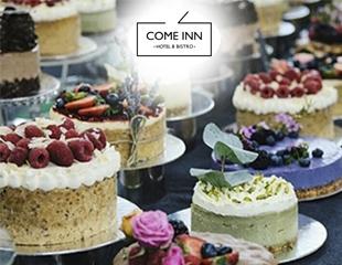 Праздничные торты с доставкой от кондитерской Come Inn Bistro со скидкой 50%!