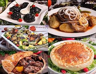 Плов в тесте, куырдак со съедобными косточками, черные манты, шашлыки, пицца, лагман, авторские блюда и многое другое со скидкой 50% в кафе «МансАрда»!