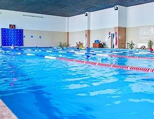 Клубные карты «Все включено»: посещение крытого бассейна, тренажерного зала, сауны и групповых программ в спортивно-оздоровительном комплексе «Казахстан» со скидкой до 55%!
