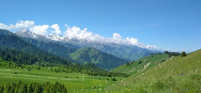 I love Almaty mountains, 4