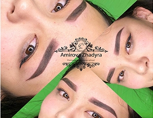 Утонченный и глубокий взгляд! Перманентный макияж бровей и век от мастера Жадры со скидкой 53%!