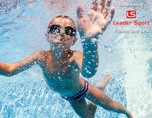 Бережем здоровье с детства! Занятия для детей от 4 до 12 лет + сауна в школе плавания от Leader Sport fitness club & SPA! Скидка 55%!