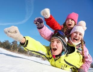 С ветерком! Катания на снежных горках в выходные дни на баллонах и ледянках со скидкой 14% в ущелье Алмарасан!