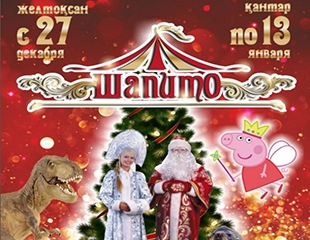 Подарите детям сказку! Дрессированные звери, жонглеры, фокусники, а также Дед Мороз и Снегурочка в новогоднем представлении в цирке «Шапито»! Скидка 31%!