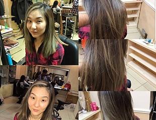 Время преображений! Стрижки, укладки, окрашивание волос, hair-SPA и полировка волос от мастера Джохи, Ерлана и Алтын в студии красоты Z-Vivat со скидкой до 74%!