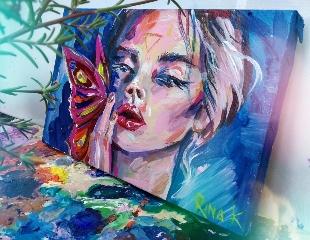 Самый индивидуальный подарок! Портреты на заказ от художника Рины Каримовой (г. Шымкент)! Скидка 50%!