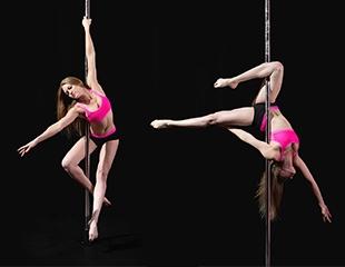Изящество, грация и никаких комплексов! 1, 2 и 3 месяца посещения занятий Pole Dance со скидкой до 60% от Studio Brilliant!