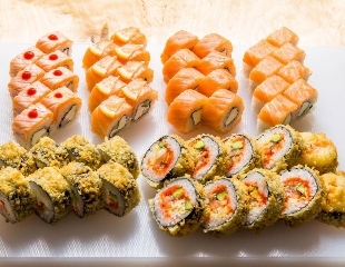 Изысканный вкус с семейными традициями от братьев Татин! Все меню со скидкой до 50% от службы доставки TATIN Sushi Pizza Wok!