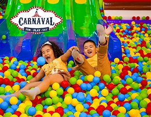 Раздолье для веселья! Посещение нового парка развлечений для детей Carnaval в ТРЦ MOSKVA Metropolitan в будние и выходные дни со скидкой 30%!