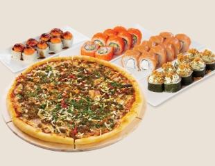 Вкусно и очень быстро! Пицца, суши и китайская кухня со скидкой до 50% + бесплатная доставка от Asia Mix!