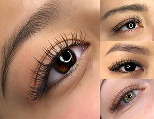 Эффектные глазки! Наращивание ресниц от классики до мегаобъема со скидкой до 50% в салоне AiS Beauty Room!