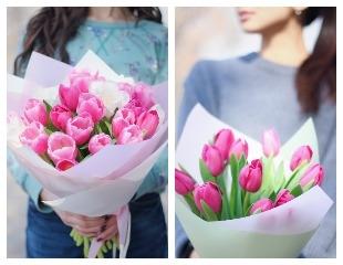 Изящное дополнение к любому подарку! Тюльпаны от цветочного магазина AboutFlowers со скидкой до 43%!