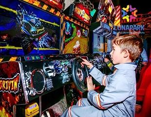 Более 50 игр и аттракционов в одном месте! Посетите развлекательный центр Lunapark в ТРЦ Asia Park со скидкой 50%!