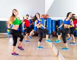 Двигайся в ритме жизни! Фитнес на батутах, зумба, йога, стретчинг, латина и восточные танцы от Студии #1 в Halyk Arena со скидкой до 60%!