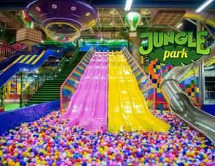 Веселье без границ! Трехэтажные и экстремальные горки, веревочные парки, лабиринты в самом большом парке развлечений для детей JUNGLE Park в ТРЦ Атакент Mall со скидкой до 65%!