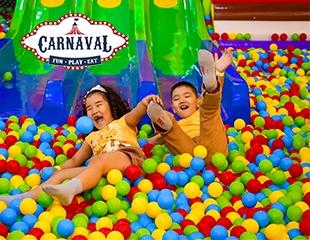 Незабываемый отдых и яркие впечатления в парке Carnaval в ТРЦ MOSKVA Metropolitan в будни и выходные дни со скидкой до 50%. Подарите детям карнавал!