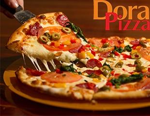 Хиты Вашего ужина! «Чизбургер пицца», «Жульен», «Двойная пепперони» и еще 30 видов пиццы со скидкой 50% в пиццерии Dora!