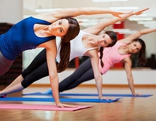 Время начать работать над собой! Программы групповых занятий: Fitness Mix, Стрейчинг, Body Fit, 90-60-90, Стрип-пластика со скидкой до 77% в СК «Алатау»!