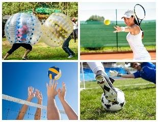 Аренда Bumper Ball, мастер-класс по игре в большой теннис, а также аренда корта, футбольной и волейбольной площадок в Family tennis club! Скидка 50%!