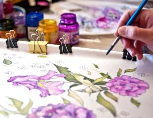 Творческая суббота в La Boheme! Посетите мастер-класс росписи по батику со скидкой 50%!