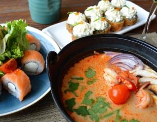 Насладитесь атмосферой благодушия и гостеприимства! Все меню и бар в ресторане «Фудзи» со скидкой 50%!