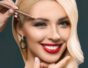 Макияж, укладка, а также обучение визажу для профессионалов и любителей со скидкой 50% в салоне красоты MOJO!