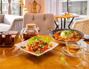 В честь открытия для самых дорогих гостей! Скидка 100% на турецкий сет в ресторане европейской и восточной кухни Meziret!