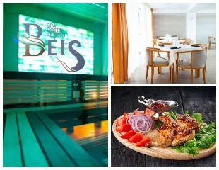 Согревающий отдых в зимнюю стужу! Бассейн с подогревом, 5 видов саун, восхитительный «Душ впечатлений», солевая кабина и гидромассажная ванна в Beis Spa Hotel&Resort со скидкой до 50%!