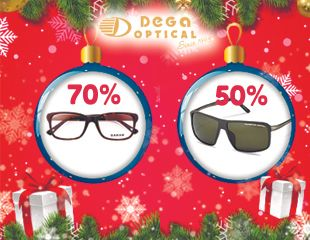 В Новый год — с новыми очками! Оптические и солнцезащитные очки, а также линзы для оправ со скидкой до 70% в сети салонов Dega Optical!
