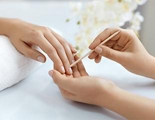 Безупречный вид Ваших рук! Классический маникюр и педикюр, а также покрытие гелем в салоне красоты «Ноготок» со скидкой до 69%!