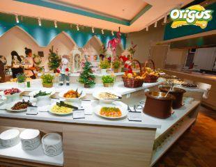 Все включено! Шведский стол: обед и ужин со скидкой 50%! Насладитесь разнообразием блюд в всемирно-известной сети ресторанов ORIGUS!