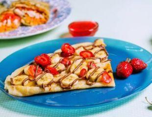 Вкусные блинчики с любимыми начинками в кафе быстрого питания «Блин да Мёд» со скидкой 30%!