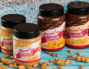 Невероятно вкусная арахисовая и шоколадно-арахисовая паста от Bambino! Вкусы: «Classic», «Bites», «Chocolate» и «Crunchy Chocolate» со скидкой 45%!