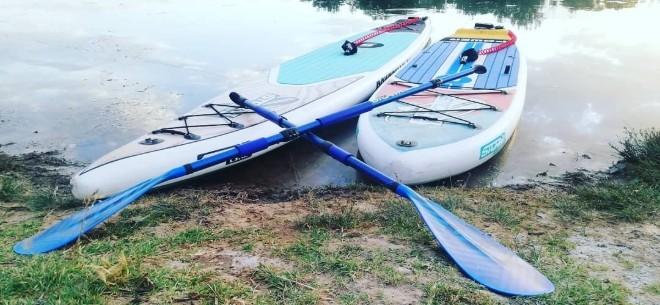 SUP BOARDING на озере Сайран